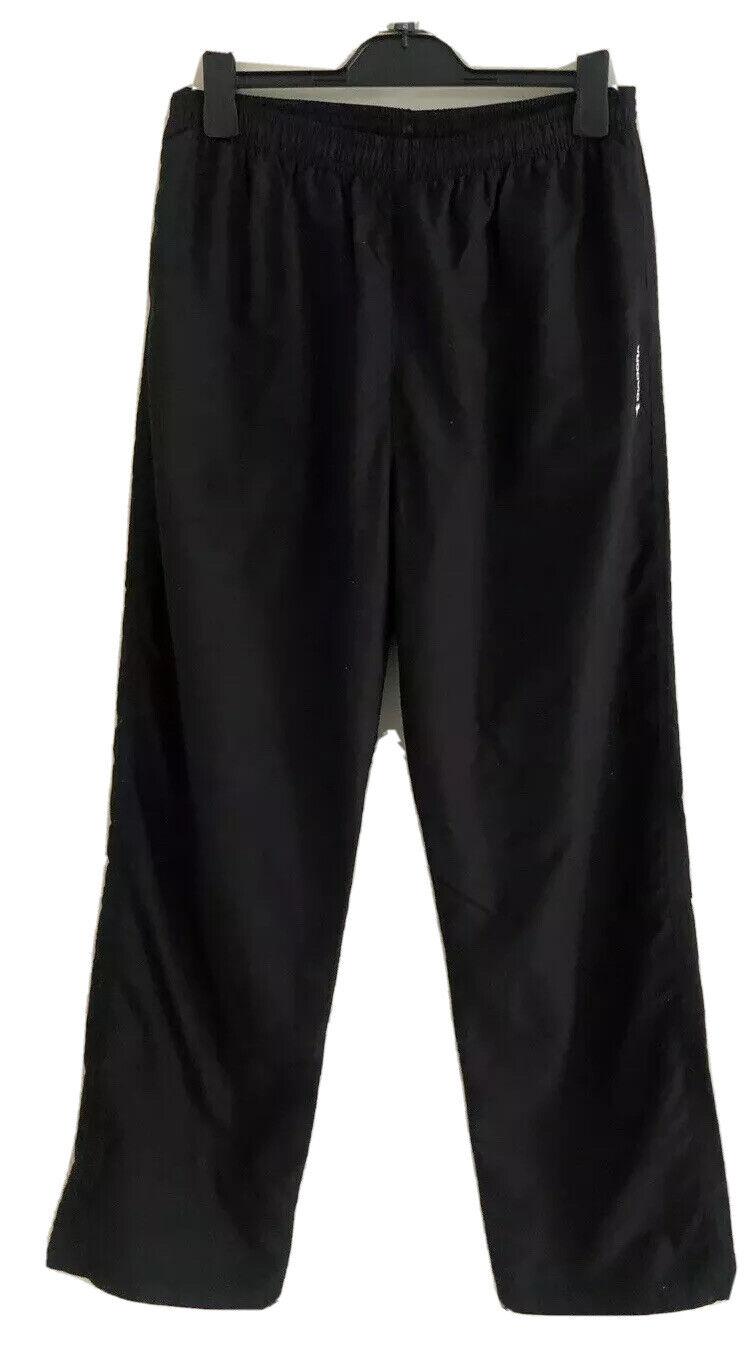 Mens DIADORA Black Running Track Mesh Lined Pants. Size L. GUC