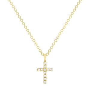 exclude chain Men 0.04 cttw Diamond 14K Rose Gold Exquisite Cross Pendant