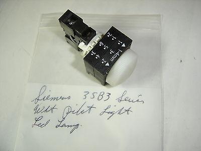 SIEMENS 3SB3 SERIES LED LAMP WHITE LENS PILOT LIGHT