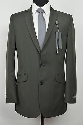 KENNETH COLE REACTION NWD MENS BROWN STRIPED TWO BUTTON BLAZER SIZE: 40L