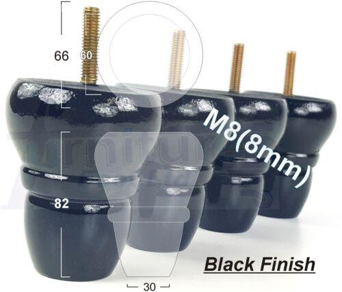 4x en bois de remplacement jambes Meubles Pieds Pour Canapés chaise tabouret M8 8 mm Multi