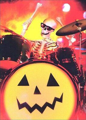 Skeleton Drummer Halloween Card - Greeting Card by Avanti Press