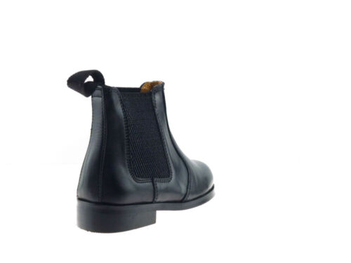KIDS BOYS INFANTS NEW REAL LEATHER BLACK TAN CHELSEA DEALER BOOTS SHOES SIZE