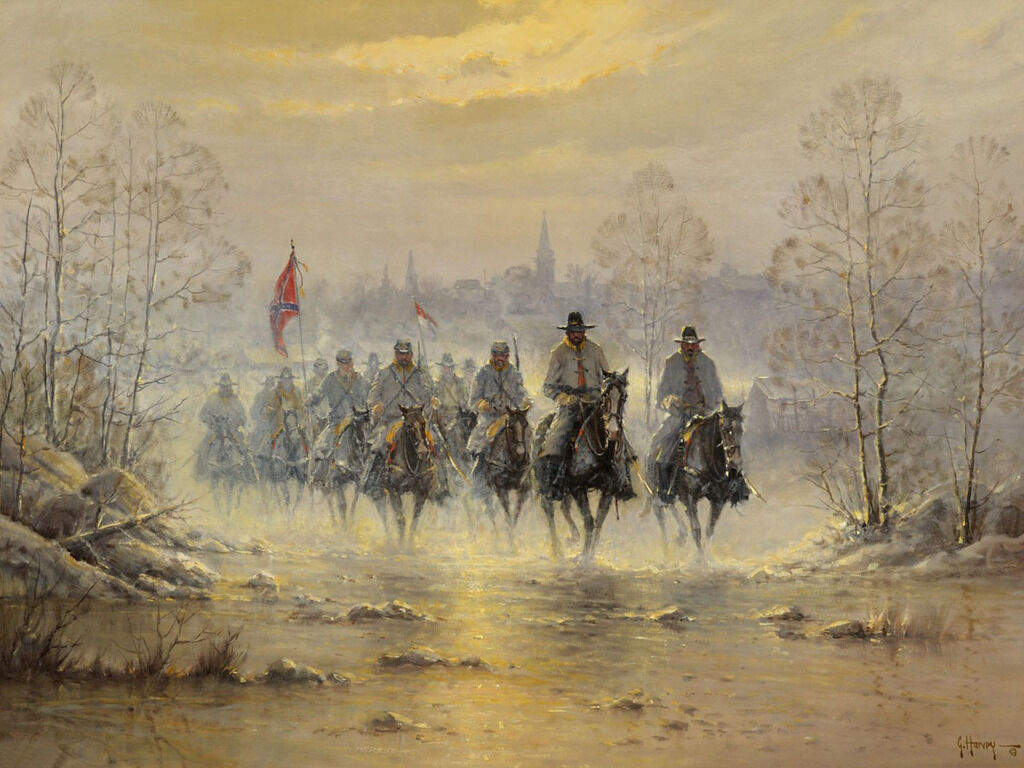 The Confederate Army Painting HD Print on Canvas Home Decor Wall Art 18x24 inch
