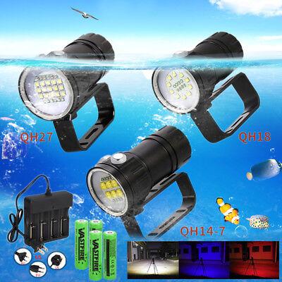 Tauchen 50000Lm 5* XM-L2 LED Tauchlampe Dive Taschenlampen 18650 Akkrus bis 100m