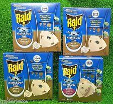 1x  RAID NIGHT& DAY INSEKTENSTECKER Starterpackung +3 Nachfüllpackungen extra !!