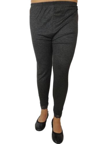 Damen Leggings mit Spitze Größe 46 48 50 52 54 Übergröße Legings Einfarbig 103