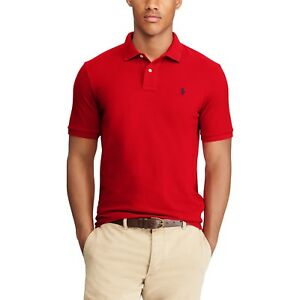 £70 Details Ralph Custom Lauren Fit Top About Xl Polo Red Mesh Uk Shirt Rrp iXZuOPkT