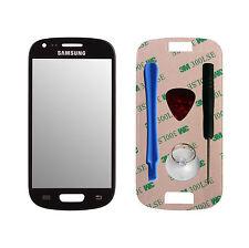 Frontglas scheibe Samsung Galaxy S3 MINI i8190 reparaturset Displayglas SCHWARZ
