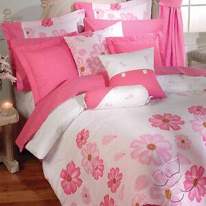 New ladies girls white pink flowers comforter bedding set ebay image is loading new ladies girls white pink flowers comforter bedding mightylinksfo
