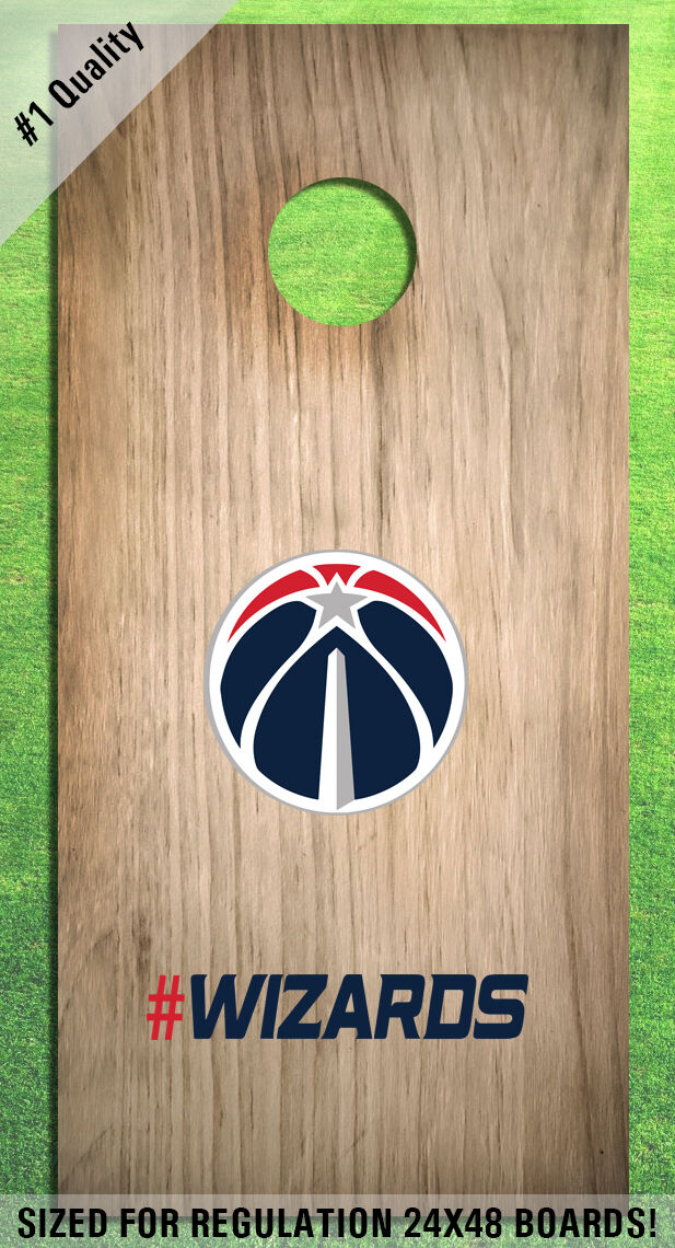 Washington Wizards Corn Hole Bag Toss High Quality Decals HD - Full Set
