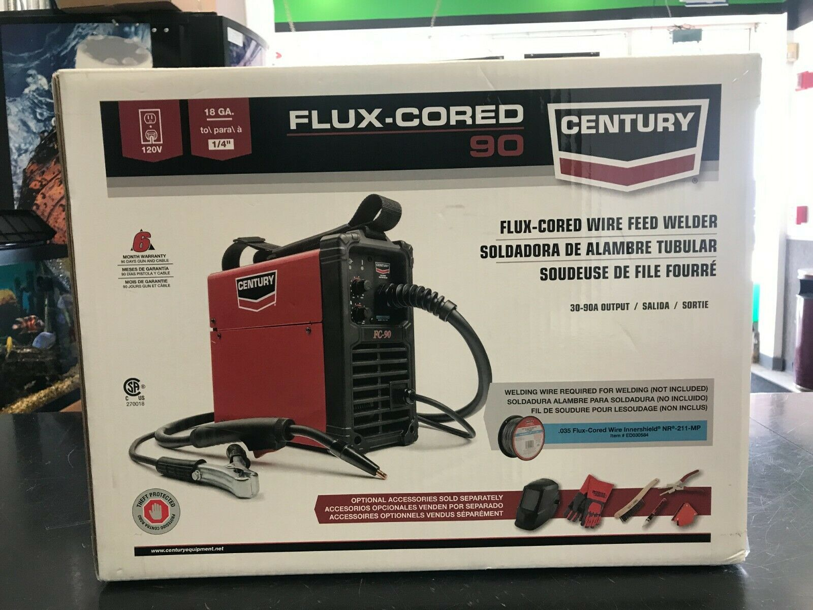 Century Flux-Cored 90 Wire Feed Welder - New in Box. Available Now for 198.95