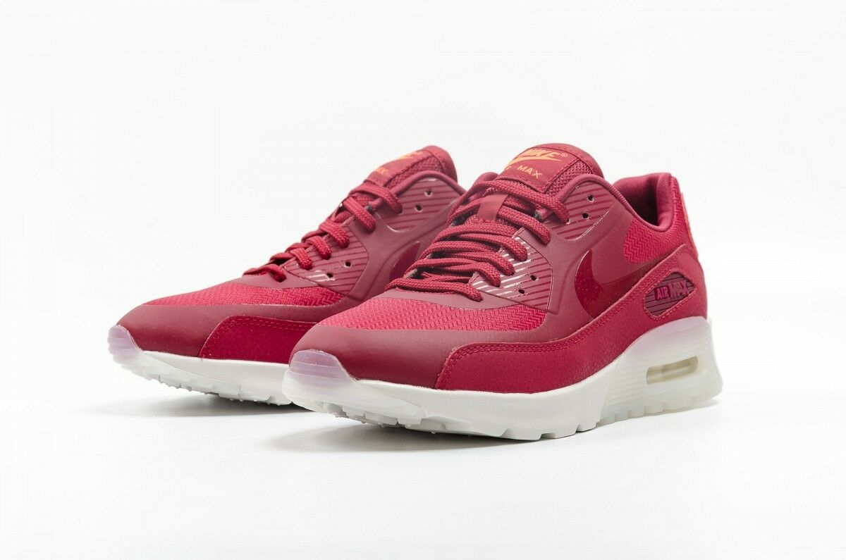 WMNS NIKE AIR MAX 90 ULTRA NEW WOMEN'S WOMEN'S WOMEN'S SHOES NOBLE RED WHITE SZ12 ac7f87