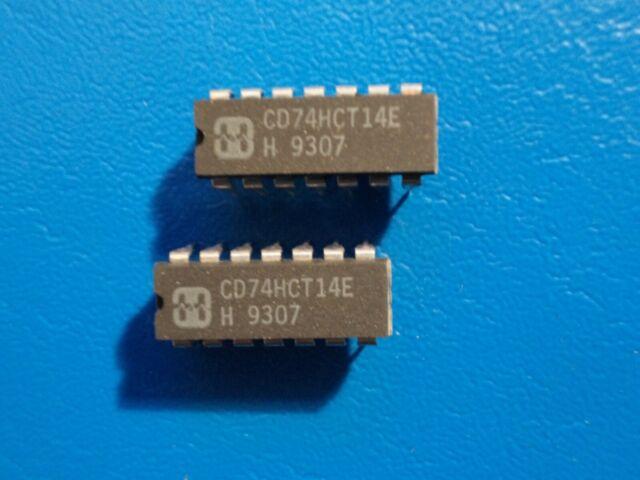 5 x CD74HCT14E Hex inverting Schmitt trigger Harris DIP-14 5pcs