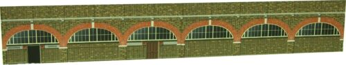 Card model sheet 00 scale viaduct sides with station entrance