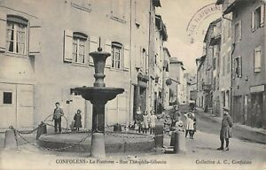 CPA 16 CONFOLENS FONTORSE RUE THEOPHILE GIBOUIN