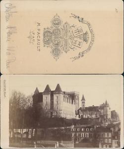 Pacault-France-Pau-Chateau-d-039-Henry-IV-Vintage-CDV-albumen-carte-de-visi