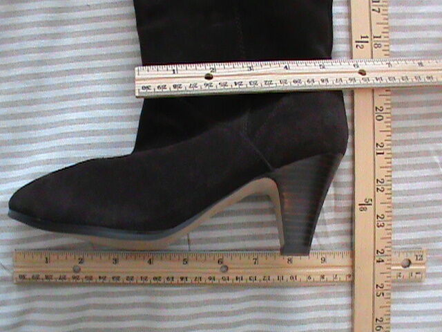 Stiefel over-knee tall Damens's 6 or 7 DOLCE VITA Braun NEW real suede heel pull-on NEW Braun b71146