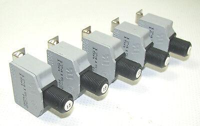 Buss 15 Amp 32VDC~250VAC Push Button Reset Circuit Breaker 5-Pack 10001-1428