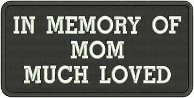 CUSTOM EMBROIDERED MOTORCYCLE MEMORY PATCH 2x4 inch