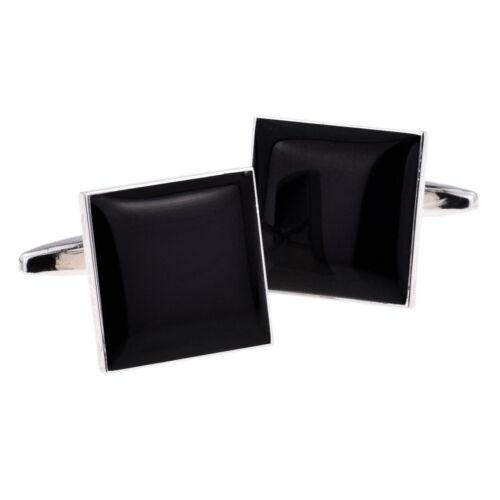 Gemelos guión de boda cuadrada negra en diversas funciones en un Gemelos Caja x 2 SSBC