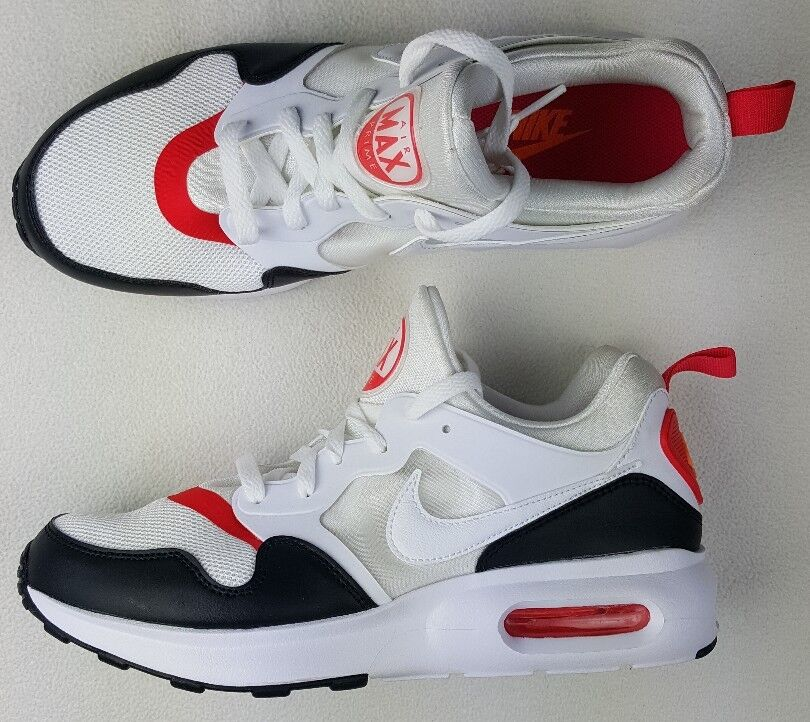 Nike Air Max Prime 876068-102 Men's Running Shoes White/Red/Blk US 9 ()