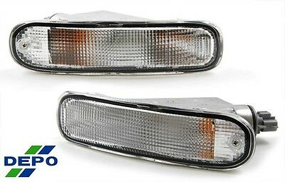 90-93 Toyota Celica Front Bumper Signal Lights OE Style CLEAR DEPO