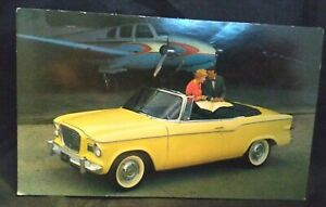 Image Is Loading 1961 Studebaker Lark Regal Convertible Advertising Postcard