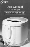 Oster Odf510 Odf520 Bread Machine Owners Manual