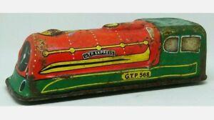 Vintage-temprano-1950s-Glam-Juguete-Hojalata-Locomotora-De-Tren-GTP-568-Express