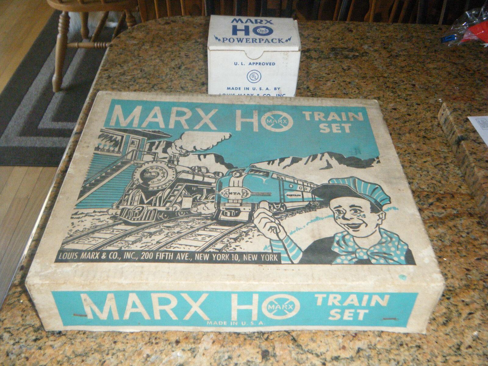 MARX HO TRAIN SET ORIGINAL scatola  16455 energiaPACK  6029 LOT TRACK nuovo HAVEN ENGINE