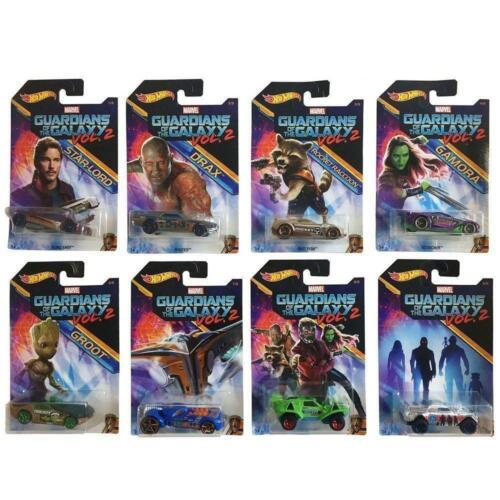 Diecast véhicules-Jeu complet de 8 DWD72 Hot Wheels Guardians of the Galaxy Vol 2