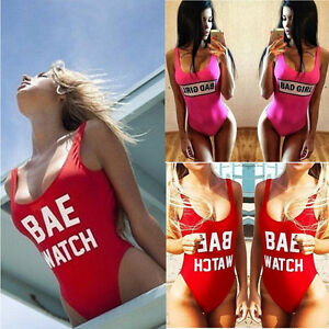 UK-Womens-One-Piece-Swimwear-Bikini-Push-Up-Bandage-Monokini-Padded-Swimsuit