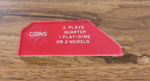 Seeburg 3W1 Wallbox Jukebox Coin Glass 3 Plays Quarter 1 Play Dime 2 Nickels