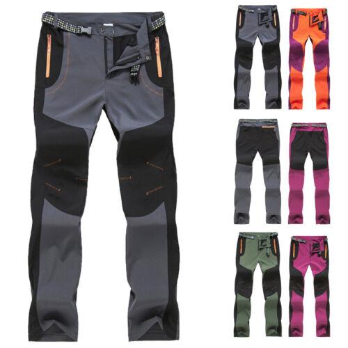 Linea uomo donna Soft Shell Pantaloni All/'aperto Arrampicata Pantaloni Da Passeggio Escursioni Sport