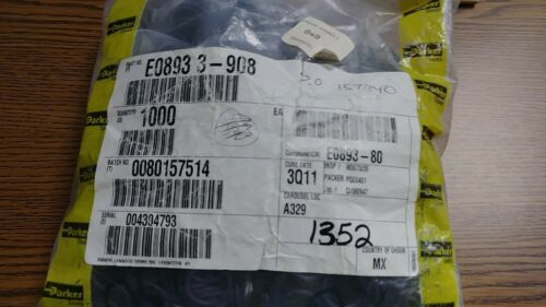 """Durometer-80 50pk Parker EPDM O-Ring 3-908 Dims 1//2/"""" x 0.644/"""" x 0.087/"""" Wide"""