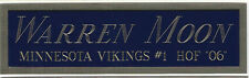 WARREN MOON NAMEPLATE FOR AUTOGRAPHED SIGNED FOOTBALL-HELMET-JERSEY-PHOTO CASE