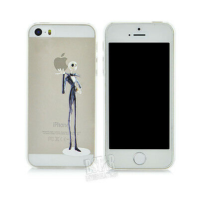 New Transparent  Skeleton Pattern Hard Phone Cover Case for iPhone5 5S PT1511