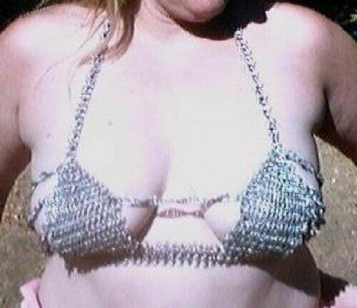 Mädchen Bekleidung Bh Viking Aluminium Kette Mail Only Bh Top Bikini Sexy Style