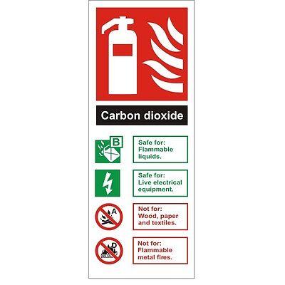 Foam Spray Fire Extinguisher Id Sign 80mm x 200mm Rigid Plastic
