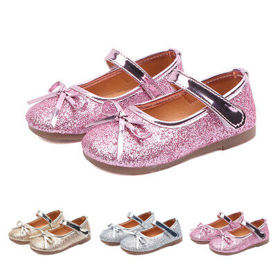 Toddler Infant Kids Baby Girls Bling Sequins Dance Princess Shoes Sandals 12M-7T