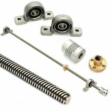 T8 8mm 500mm Lead Screw Rod With Nut Pillow Block Mounted Cnc Set For 3d Printer