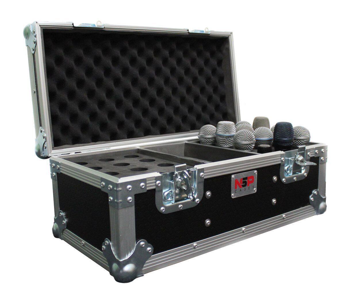Mikrofon Flight Case zu Laden bis zu 24 Mikrofone & Zubehör