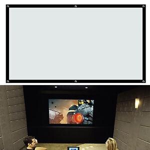 100-034-Pulgadas-Flex-Pantalla-de-proyeccion-Proyector-Cine-en-Casa-Teatro-16-9