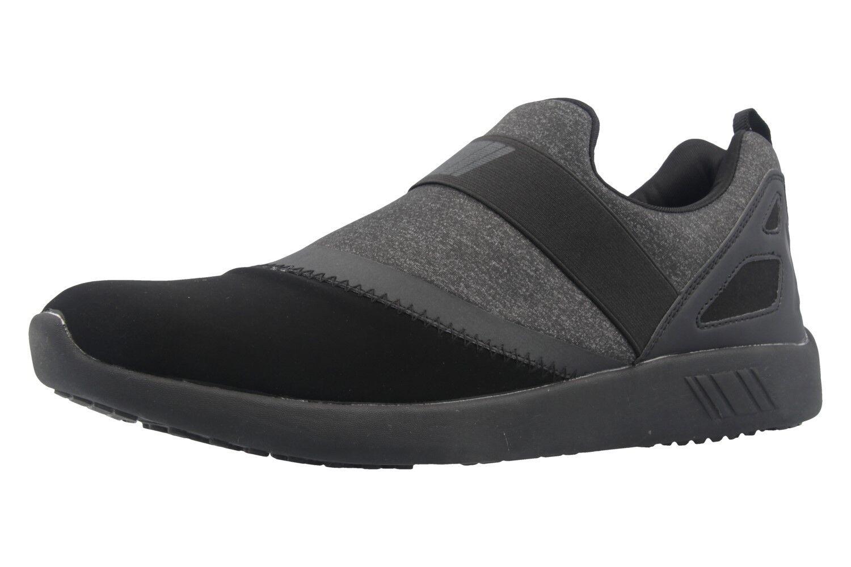 Boras Sneaker große in Übergrößen große Sneaker Herrenschuhe Schwarz XXL 62000d
