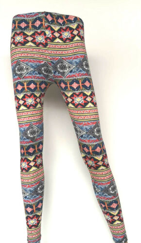Womens Printed Leggings Ladies Slim High Waisted Full Length Stretch Gym Yoga