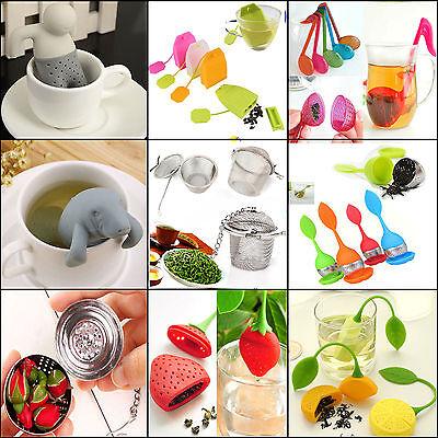 NT Mr.Tea Infuser Loose Tea Leaf Strainer Herbal Spice Silicone Filter Diffuser