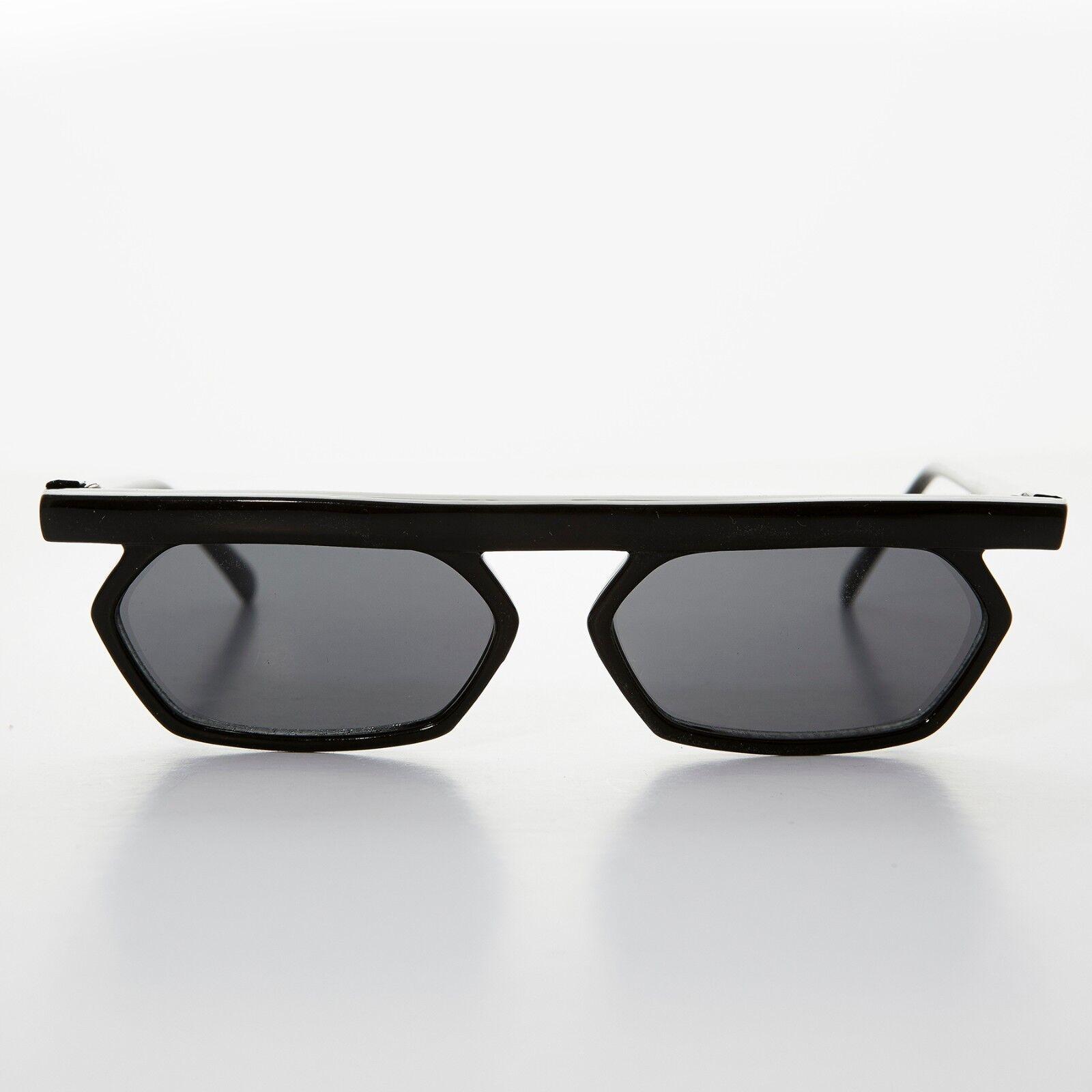 Matrix Neo Style Vintage Steampunk Sunglass Black/Gray -Lestor