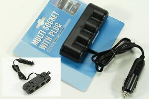 24V Mehrfachsteckdose Kfz Auto Steckdose Ladegerät 3x USB A Anschlüsse 2x 12V