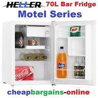 Heller Bar Fridge 70lt Motel Series Fridge White Home Office Shed Caravan Drink